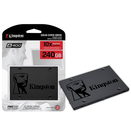 Kingston 240GB SSD (Solid State Drive) 3.0 SATA -2.5 inch - 10xFaster