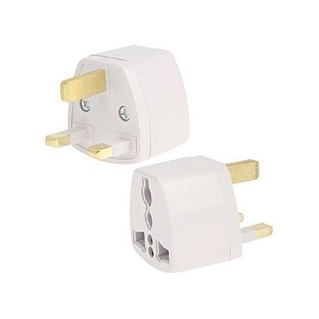 2PCS Plug Adapter, Travel Power Adaptor white white