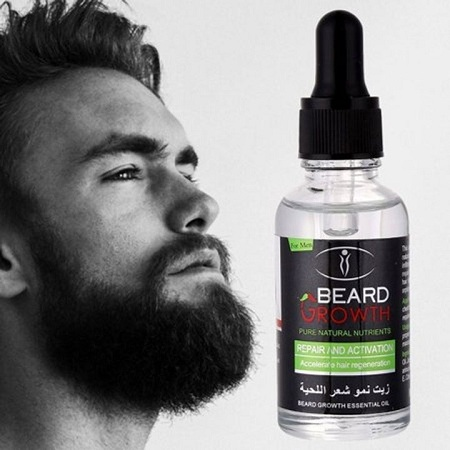 Beard Growth & Moustache Fast Growth Oil clear clear