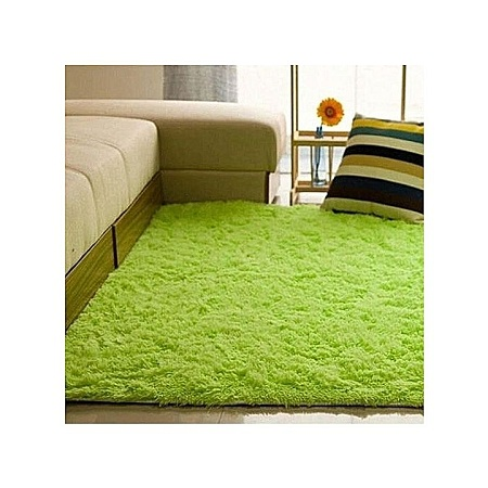 Fluffy Rugs Anti-Skiding Room Carpet Floor Mats - Green 5*8