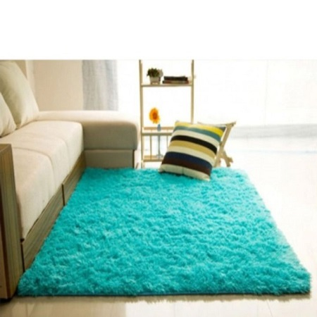 Fluffy Soft and Tender Carpet blue 5*8 maroon\dark red 5 *8