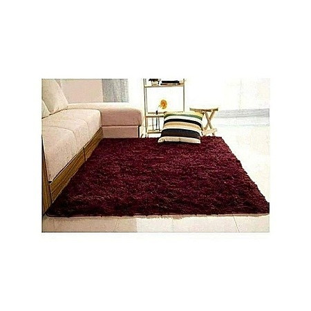 Fluffy Carpets 5*8 maroon/ dark red