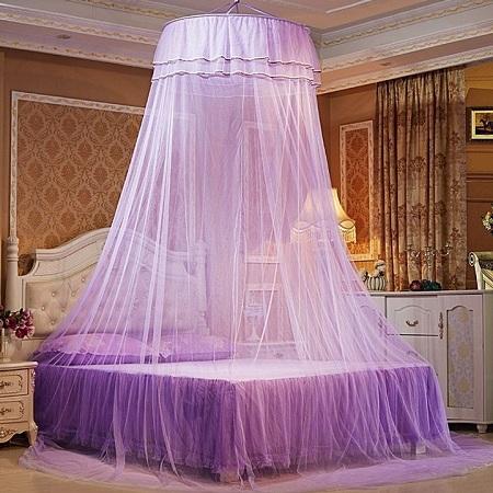 Round Mosquito Net purple Free size purple free size