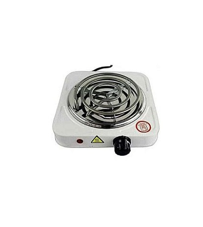 Single Sprial Electric Hotplate White