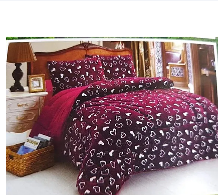 woolen Duvet Set and 2 pillow cases Red 5*6 red*black 5*6