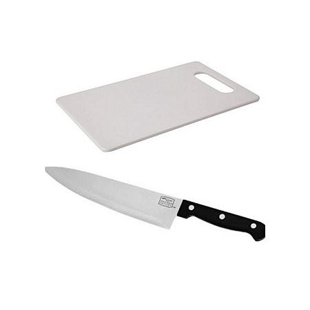 Chopping Kitchen Board + FREE Knife white