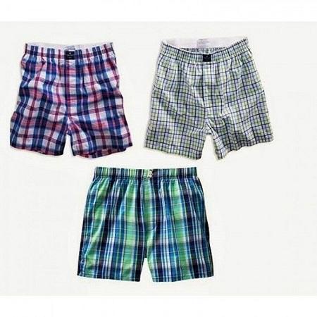 Classic Plaid Men Boxer Shorts mens boxers - 3pcs