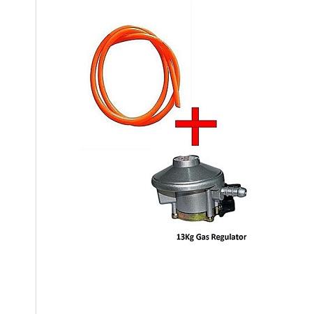 Gas Delivery Pipe Plus 13Kg Gas Regulator silver&orange