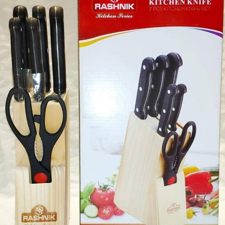 7pc kitchen knifes with stand