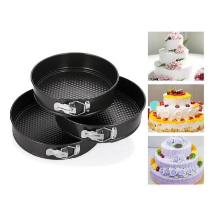 3 pcs round shape cake mold