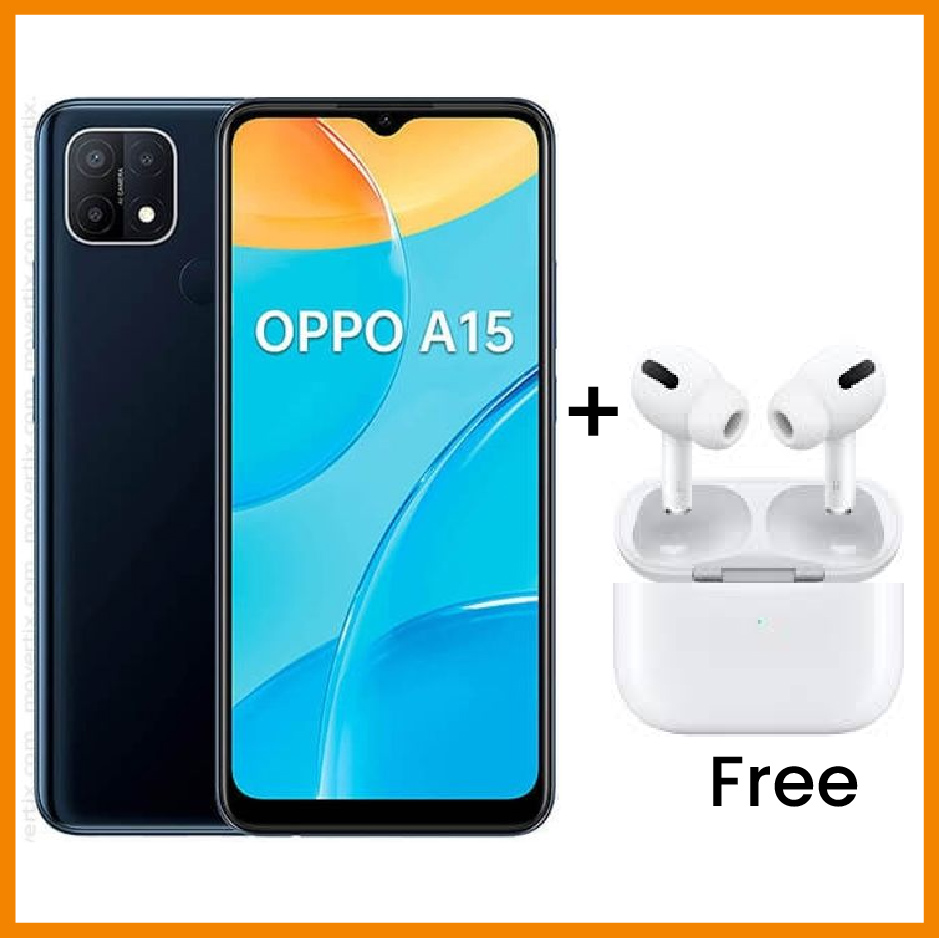 Oppo A15, 6.52 Inch, 32GB + 3GB RAM (Dual SIM) Blue