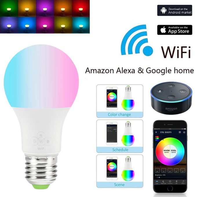 Generic Smart Bulb - LED WiFi RGB Google Home Mobile App Control