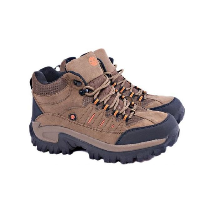 Men's Durable Long Lasting Hiking Outdoor Boots - Brown
