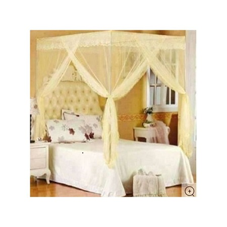 Fashion Mosquito Net with Metallic Stand 5 by 6 -Cream