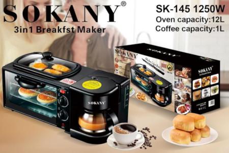 3 in 1 Sokany Home Breakfast machine Coffee