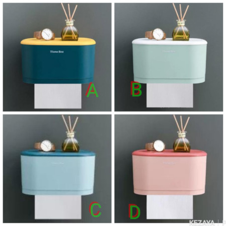 Tissue Box Plastic Bath Toilet Wall Mounted Paper Roll Holder