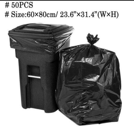 50Pcs PREMIUM QUALITY TRASH BAGS