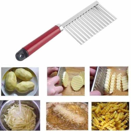 Stainless Steel Vegetable Potato Crinkle Wavy Knife Cutter