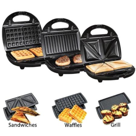 3 in 1 Sandwich,Waffle & Grill Maker
