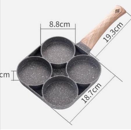 High Quality heavy granite non~stick 4slot pancake/egg pan