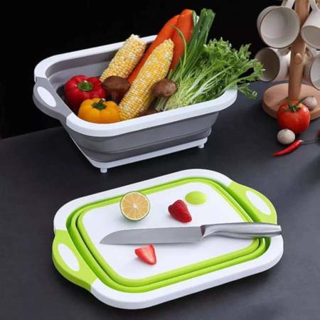 Foldable Multifunction Cutting Board+Drain Basket+Washing Basket