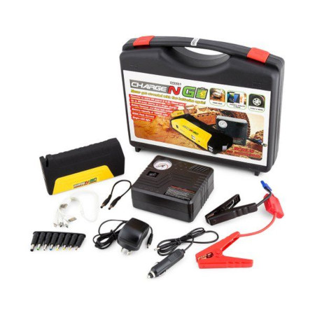 Portable Car Jump Starter Kit With Tyre Inflator / Air Compressor 50800mAh