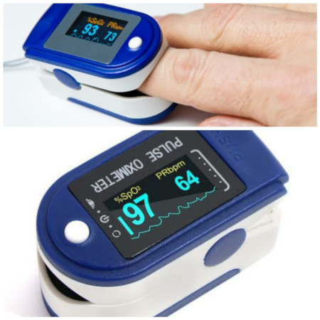 Pulse Oximeter, Finger Pulse Oximeter with OLED Display
