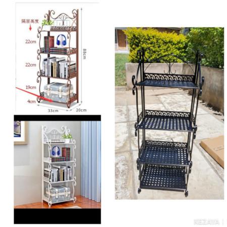 4 Tiers / Layers Metallic Kitchen Racks/Kitchen Organizer Stand