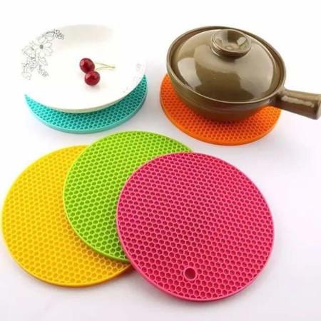 Round Heat Resistant Silicone Mat Non-slip Pot Holder