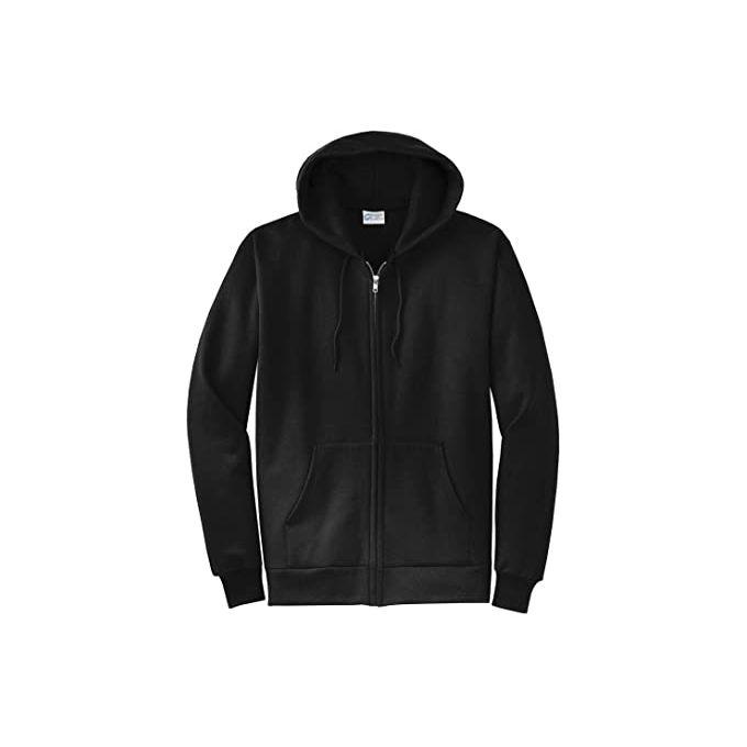 Fashion Black Zip Up Hoodie