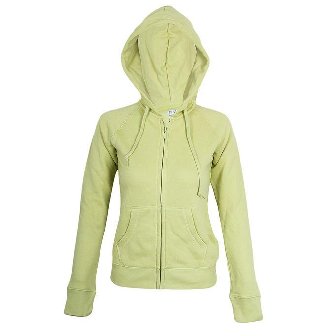 Fashion Lime Green Zip Up Hoodie