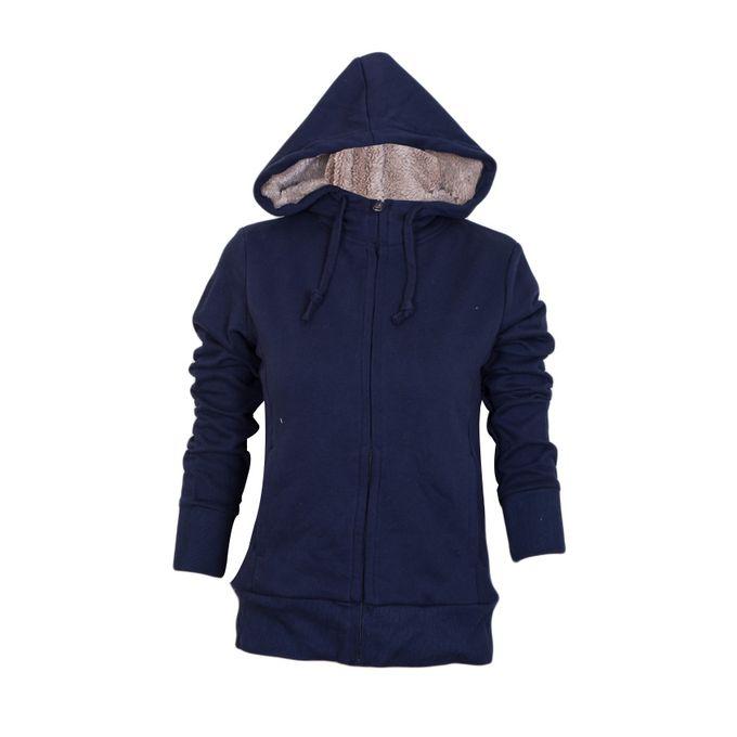 Fashion Navy Fleece Hoodie Unisex Limited Edition