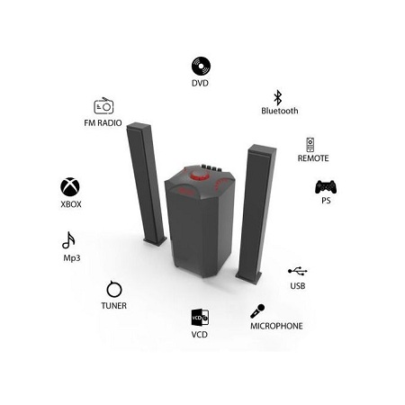 JTC 2.1CH Powerful Home Theatre Speaker System -10000W