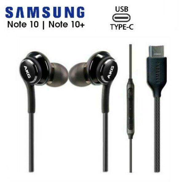 Samsung Galaxy S10 NOTE 10 NOTE 20 AKG TYPE C Earphones - BLACK