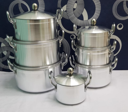 Stainless cooking pots