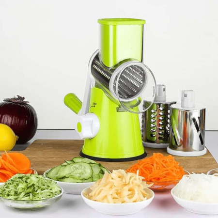 Top table manual rotary vegetable cutter and grinder