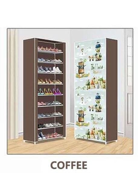 Nunix Portable Shoe Rack- 0610 Brown