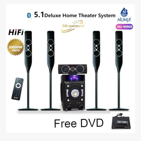 Nunix 5.1 MINI Home Theater System 9090B + Free Dvd