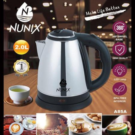Nunix Electric Kettle Plastic 2.0L Cordless