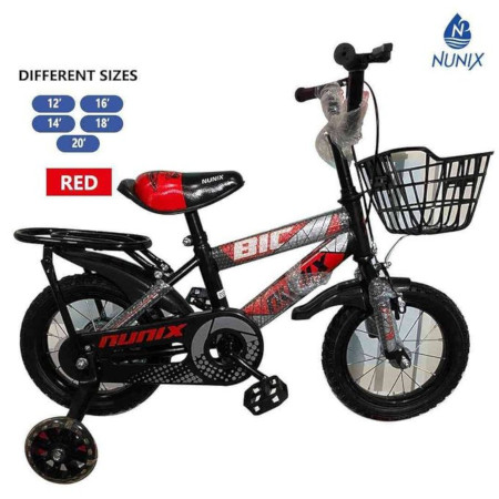 Nunix Kids Bicycle Size 20 For Age 4-8 yrs Red bike