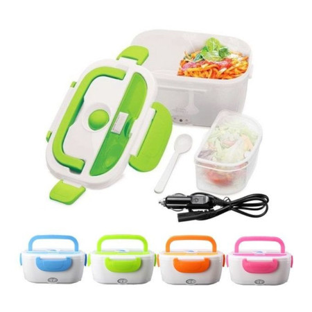 Electric Heated Lunch Box Food Warmer With Partitions- Random color