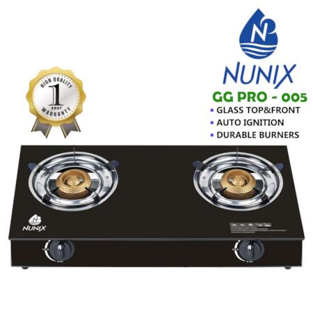 Nunix Glass Table Top Gas Cooker GG Model