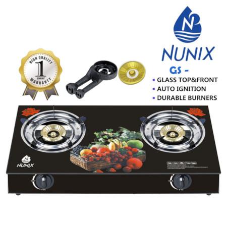 Nunix Glass Table Top Gas Cooker GS Model