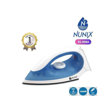 Nunix Dry Iron Box With Nonstick Soleplate