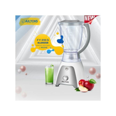 AILYONS FY-310S, 2 In 1 Blender With Grinding Machine, 1.5L- White