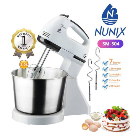 Nunix Multi-Pro 7 Speed Stand Mixer With Bowl