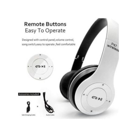 P47 Bluetooth 5.0Wireless TF Card FM Radio White