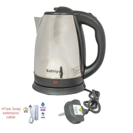 Sathiya Electric Kettle Plastic 2.0L With Free 3 Way Cable