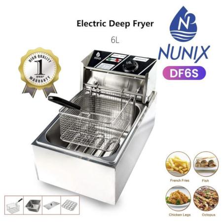 Nunix Electric Deep Fryer Machine - 6L-2500W Brand