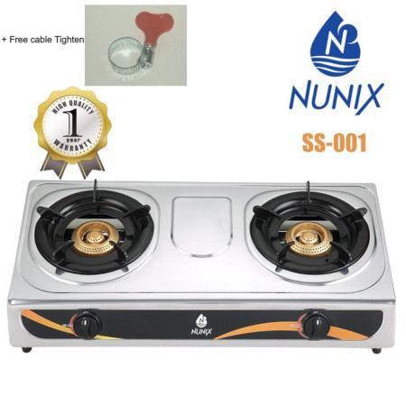 Nunix Table Top Gas Cooker + Tightener